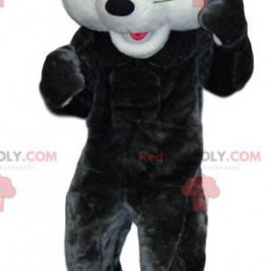 Rato de mascote branco e cinza. Fantasia de rato -