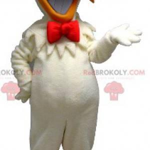 Mascot hvit og oransje høne for en matbit - Redbrokoly.com