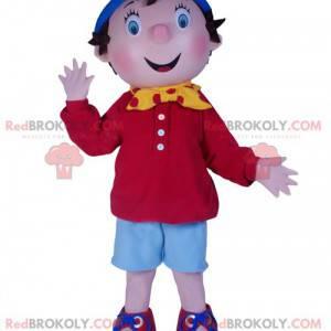 Mascote do garotinho Sim, sim. Fantasia de Noddy -