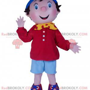 Mascotte del ragazzino Sì-sì. Costume di Noddy - Redbrokoly.com