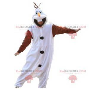 Mascot white and brown rabbit. Bunny costume - Redbrokoly.com