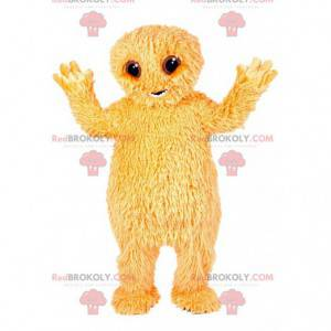 Maskot lite gult furry monster. - Redbrokoly.com