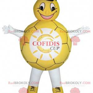 Yellow and white balloon mascot - Redbrokoly.com
