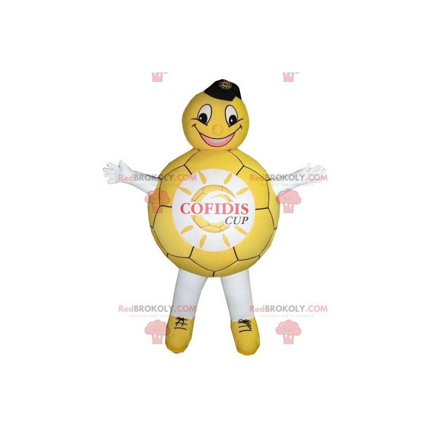 Gul og hvit ballongmaskot - Redbrokoly.com