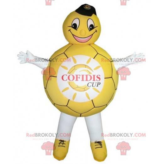 Gelbes und weißes Ballonmaskottchen - Redbrokoly.com
