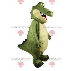 Mascote crocodível super divertido. Fantasia de crocodilo -