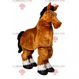 Mascotte del cavallo marrone. Costume da cavallo marrone -