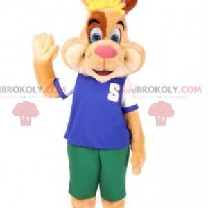 Maskot králíka ve sportovním oblečení. Bunny kostým -