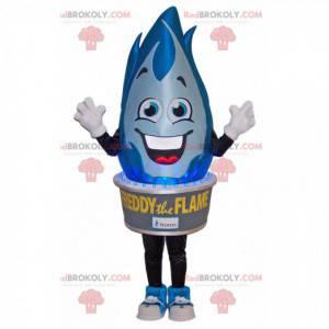 Blue flame mascot. Flame costume - Redbrokoly.com