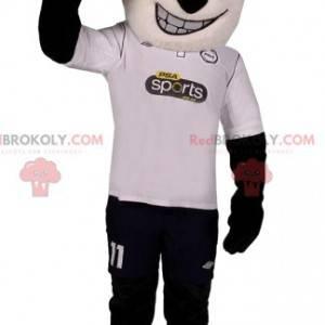 Mascote da panda em roupas esportivas. Fantasia de dança -