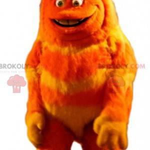 Mascote do monstro laranja. Fantasia de monstro laranja -