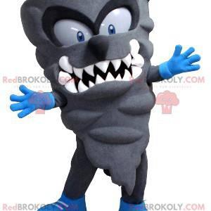Gray swirl gray monster lightning mascot - Redbrokoly.com