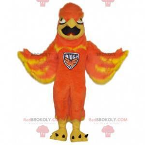 Oranžový maskot Sphynx. Kostým Sphynx. - Redbrokoly.com