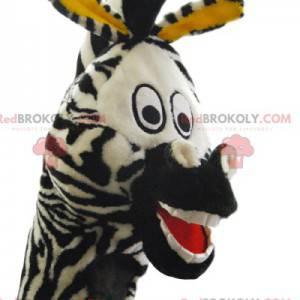 Mascotte zebra super divertente. Costume da zebra -