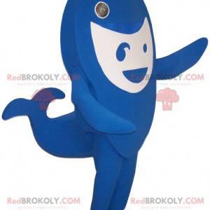 Blau-Weißwal-Maskottchen. Wadenkostüm - Redbrokoly.com