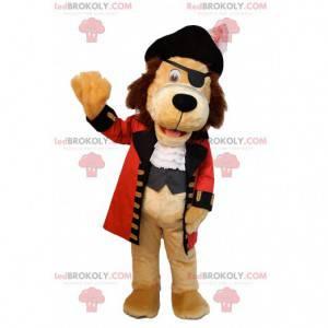 Maskot lva oblečený jako pirát. Lev kostým - Redbrokoly.com