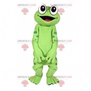 Grøn frø maskot. Frø kostume - Redbrokoly.com