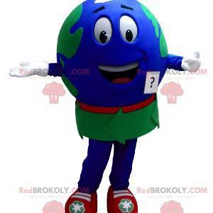 Giant world map mascot - Redbrokoly.com