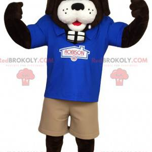 Mascot of St Bernard in work clothes. - Redbrokoly.com