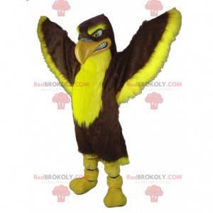 Riesiges Maskottchen des braunen und gelben Adlergeiers -