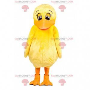 Maskot gul ælling. Andedragt - Redbrokoly.com
