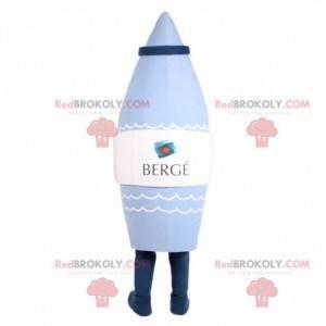 Blue rocket-shaped mascot with a cap - Redbrokoly.com