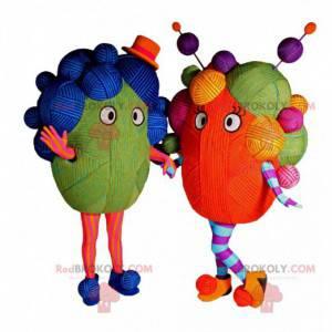 Multicolored wool ball mascot. - Redbrokoly.com