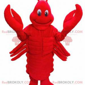 Obří červený humr maskot - Redbrokoly.com