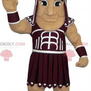 Mascote guerreiro com roupas romanas. Fantasia de guerreiro -