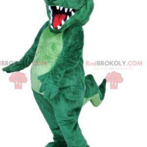 Mascote excêntrico do crocodilo. Fantasia de crocodilo -