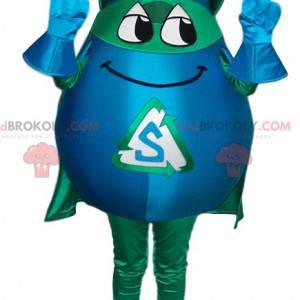 Mascota de superhéroe enmascarada en forma de gota. -