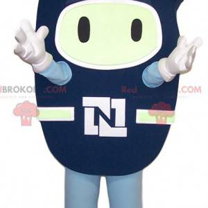 Blue palette mascot in the shape of a face - Redbrokoly.com