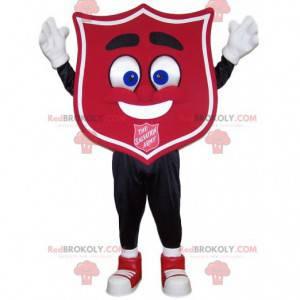 Red badge mascot. Crest costume - Redbrokoly.com