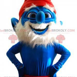 Mascote do Papa Smurf. Traje de papai smurf - Redbrokoly.com