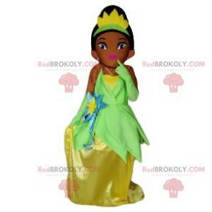Principessa mascotte con un vestito scintillante -