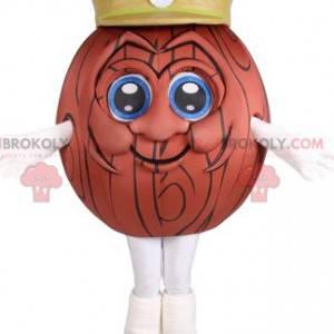 Wooden ball mascot with a yellow cap - Redbrokoly.com