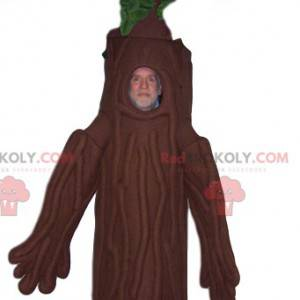 Tree mascot with a beautiful green hoop. Tree costume -