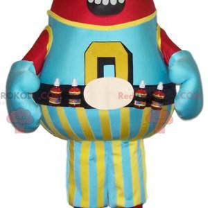 Plump og super smilende juice flaske maskot - Redbrokoly.com