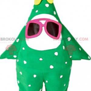 Mascote de pinheiro verde com estrela amarela - Redbrokoly.com