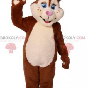 Brązowy i kremowy królik maskotka. Kostium króliczka -