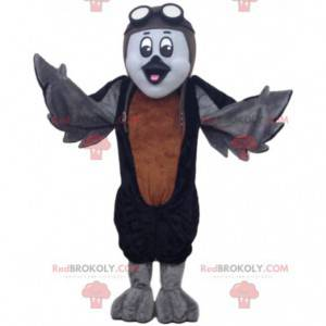 Gray carrier pigeon mascot. Carrier pigeon costume -