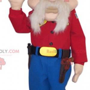Maskottchen älterer Mann mit einem großen Bart - Redbrokoly.com