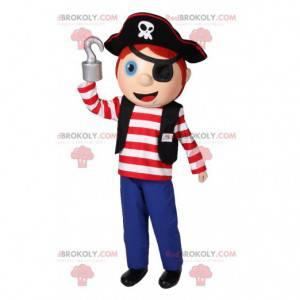 Mascote garotinho vestido de pirata! - Redbrokoly.com