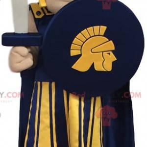 Mascote do guerreiro romano. Traje de guerreiro romano -