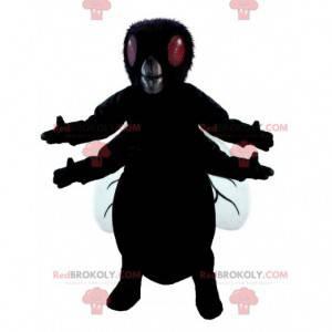 Mascote inseto gigante mosca negra voando - Redbrokoly.com