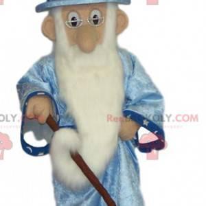 Magier Maskottchen mit langem Bart - Redbrokoly.com