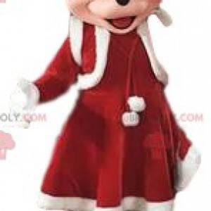"""Mascote Minnie, namorada de Mickey """"Edição de Natal"""" -"""