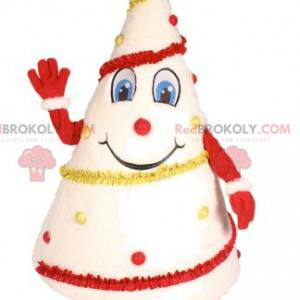 Mascot white tree decorated in red and yellow - Redbrokoly.com