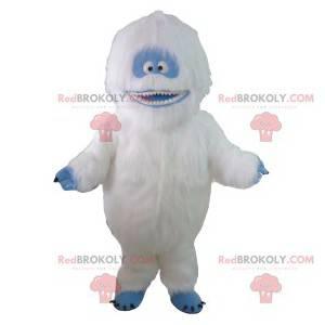 Mascot yeti blanco y azul. Traje de Yeti - Redbrokoly.com