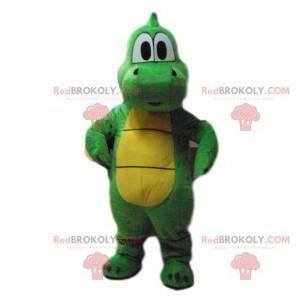 Mascote crocodilo verde super fofo! - Redbrokoly.com